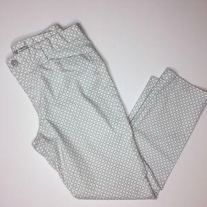 GAP Khakis Slim City ankle cropped gray white 6